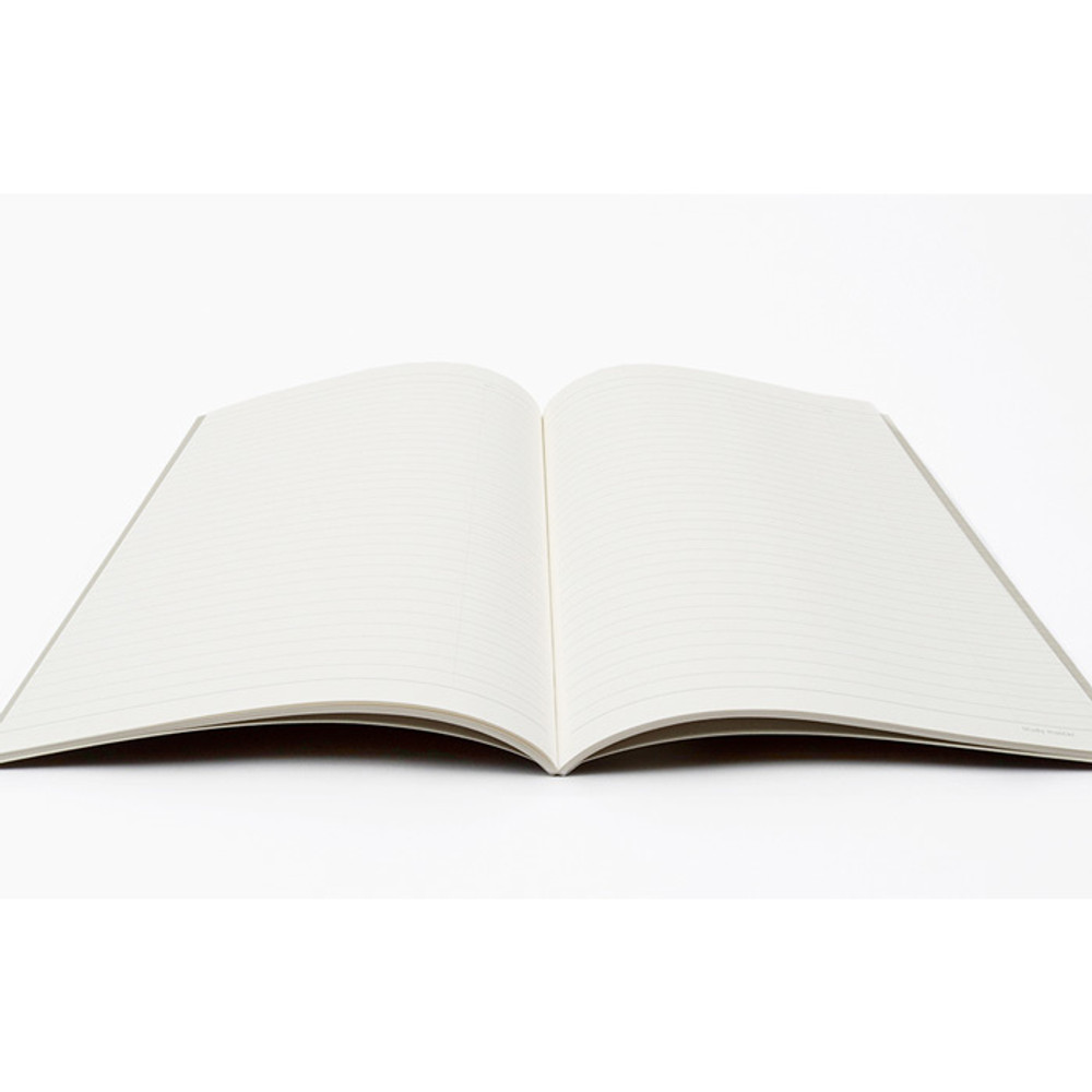 Opens flat - Bookfriends Korean literature lined notebook 64 pages
