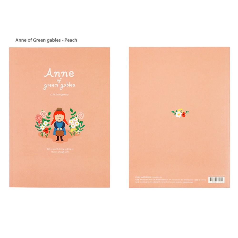 Anne of green gables Peach - Bookfriends World literature lined school study notebook