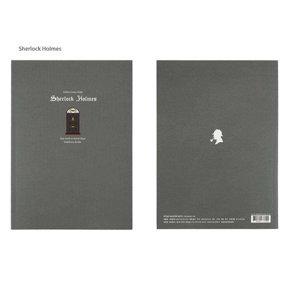 Sherlock Holmes - Bookfriends World literature lined school study notebook