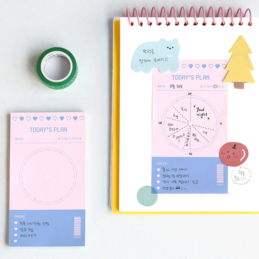 Today's plan - Iconic Dual sticky notepad 40 sheets