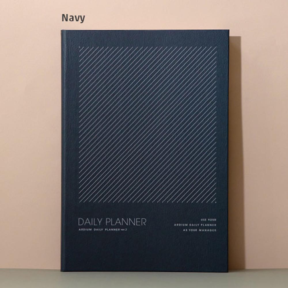 Navy - Ardium 12 months dateless daily planner scheduler ver2