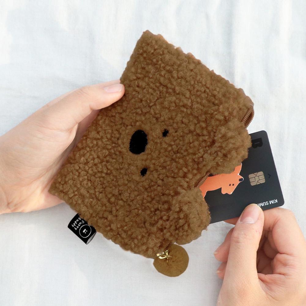 Bear - Iconic Furry buddy zipped card case holder