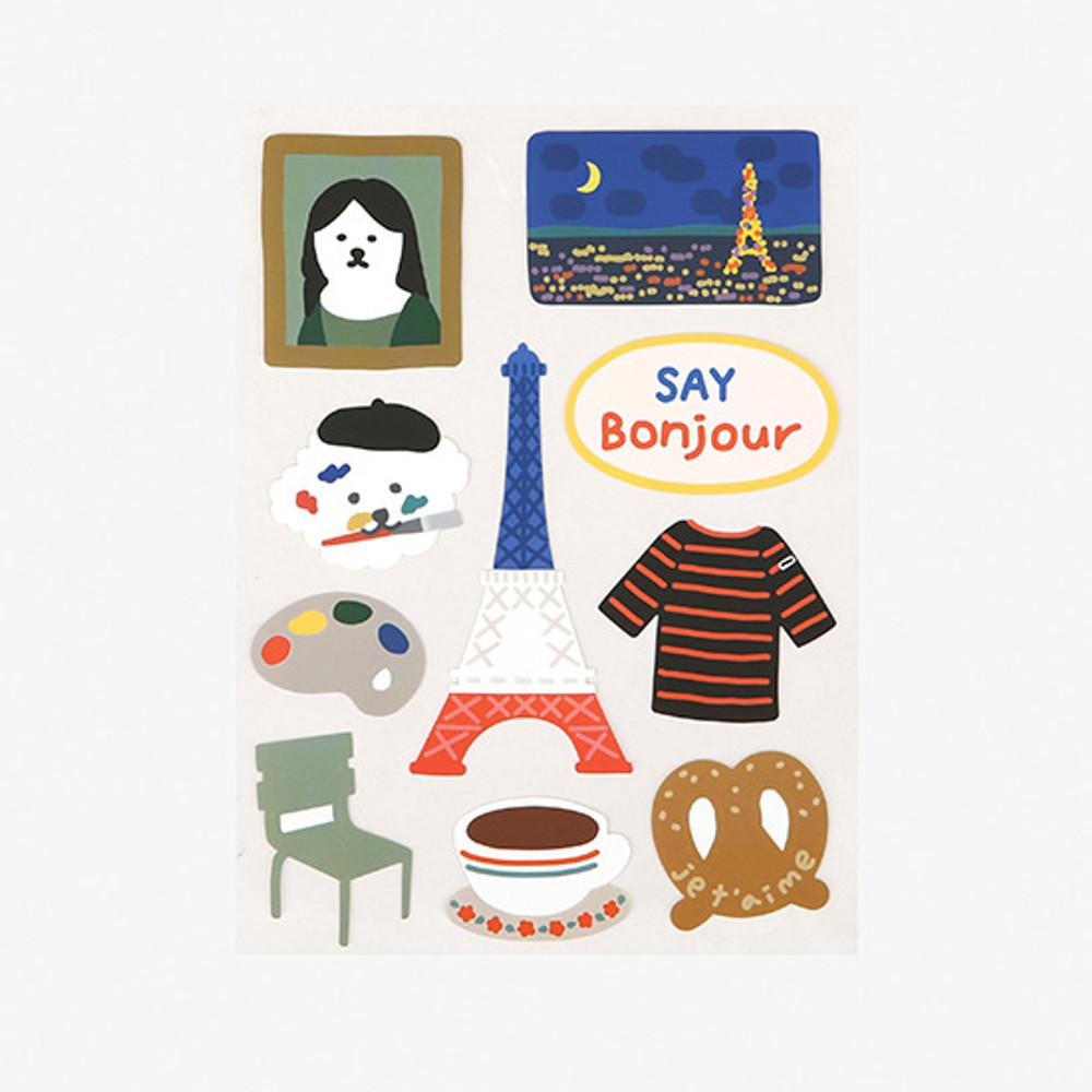 Dailylike Paris bichon removable paper deco sticker