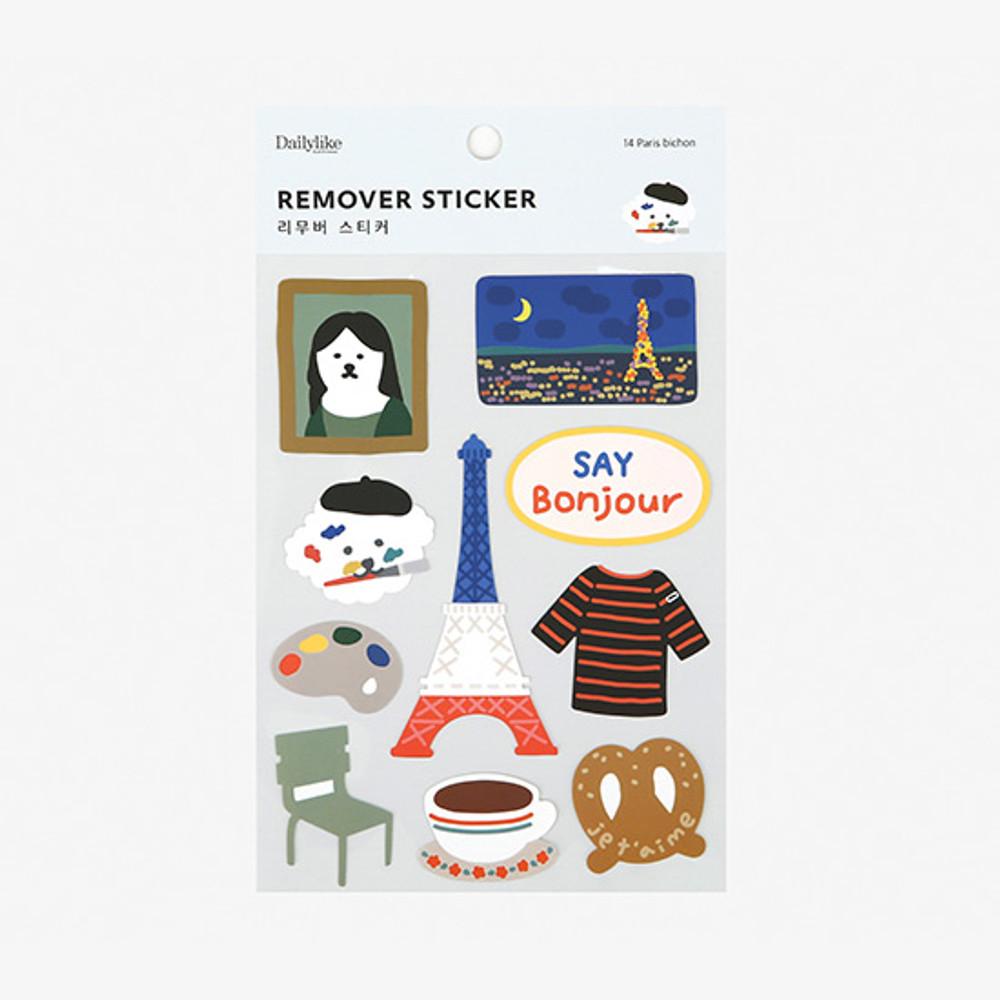 Package - Dailylike Paris bichon removable paper deco sticker