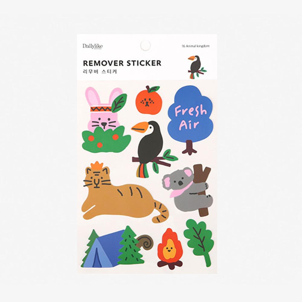 Package - Dailylike Animal kingdom removable paper deco sticker