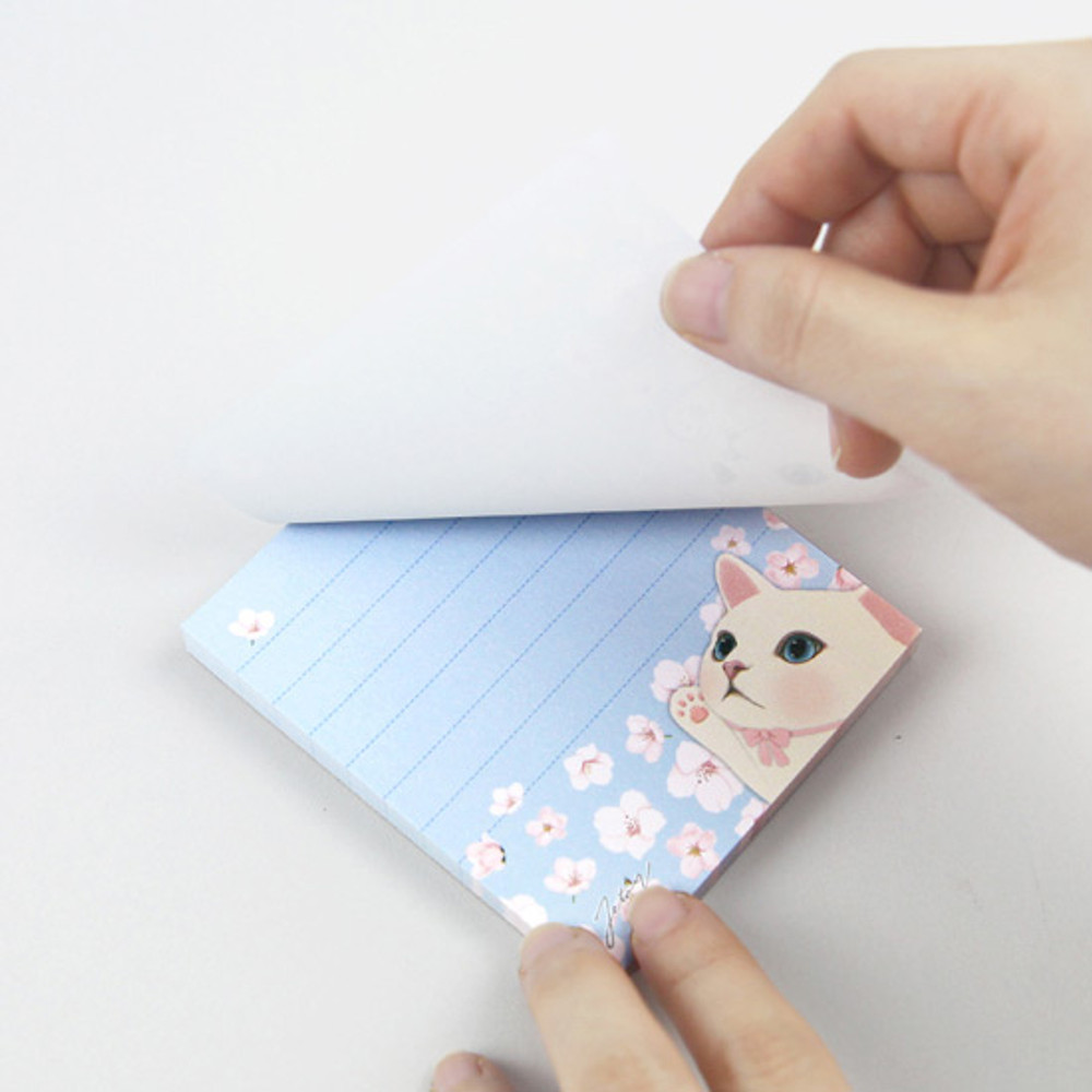 80 sheets - Jetoy choo choo cat memo notes writing pad ver2