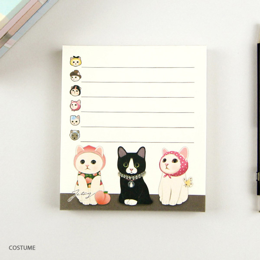 Costume - Jetoy choo choo cat memo notes writing pad ver2