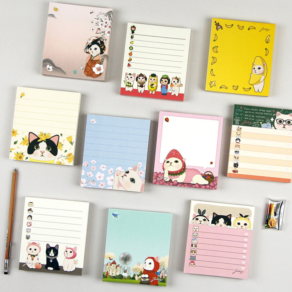 Jetoy choo choo cat memo notes writing pad ver2
