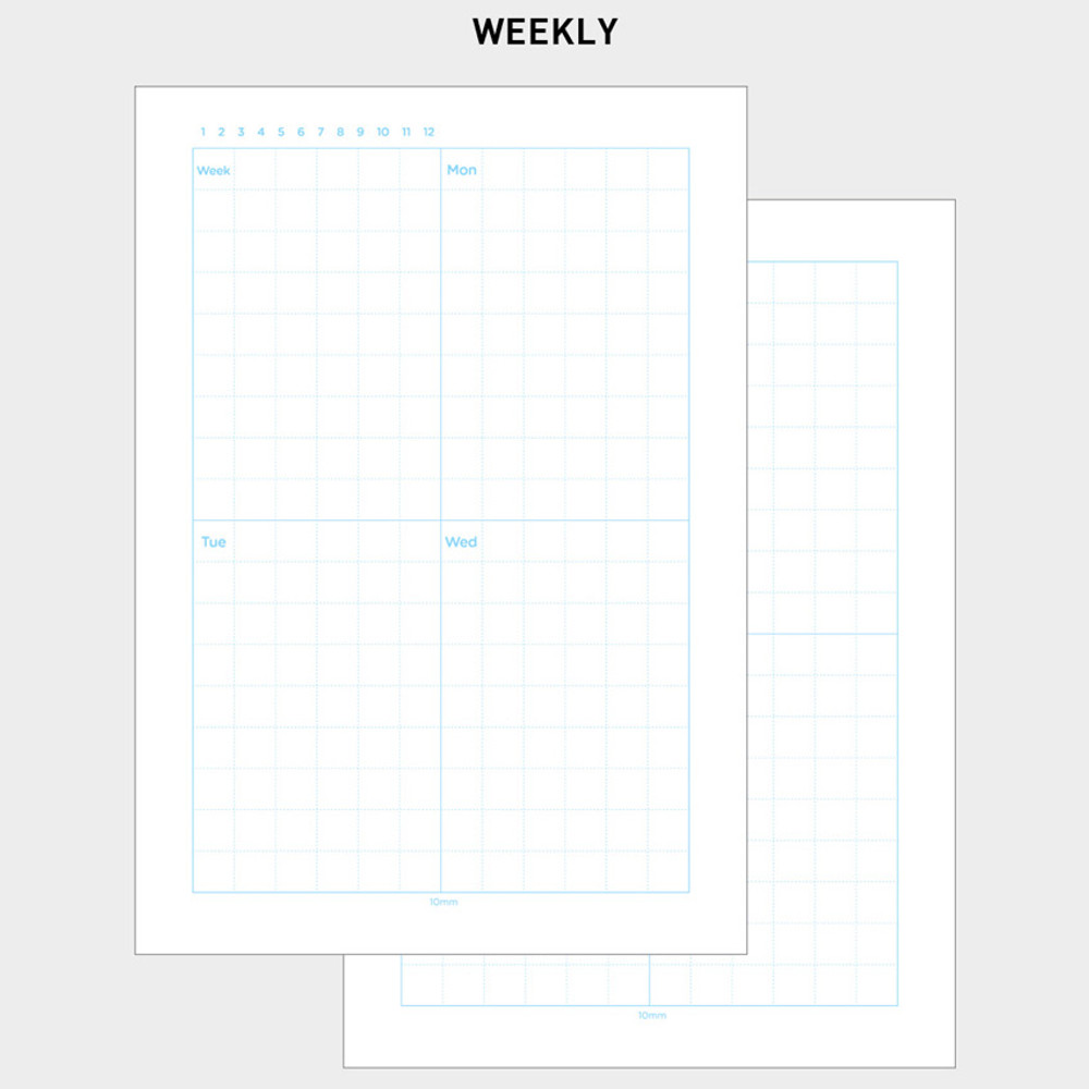 2NUL Editor pick 6-ring planner weekly plan refill