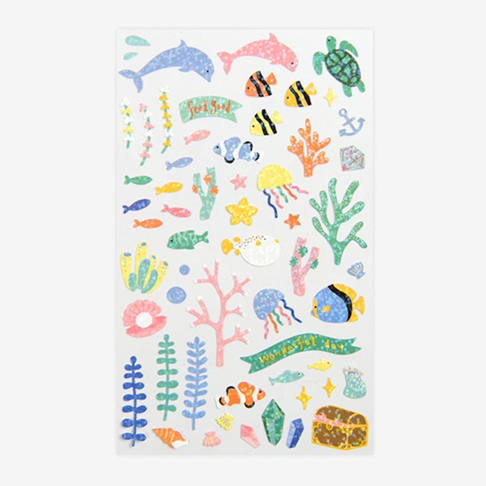 Dailylike Under the sea hologram removable sticker
