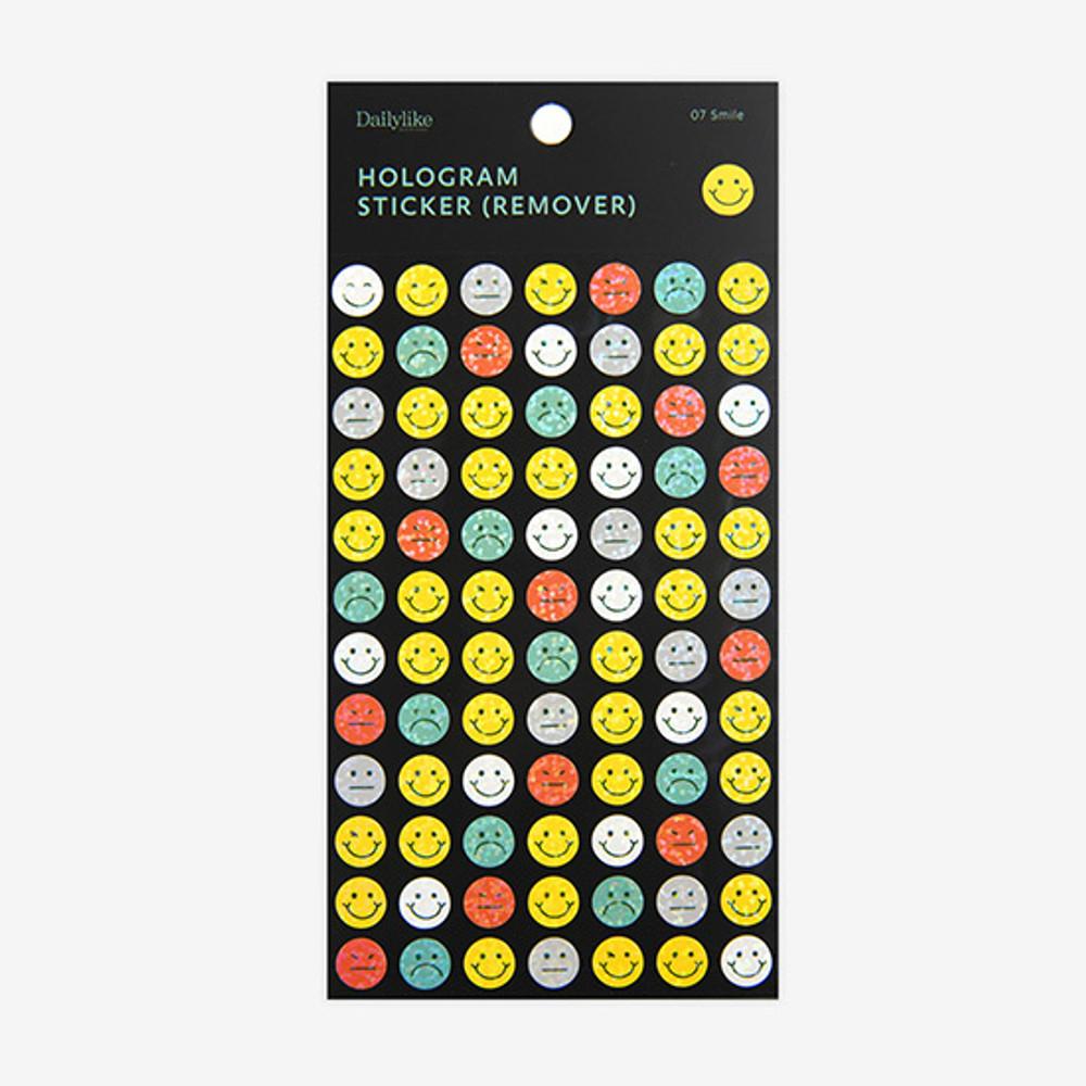 Package - Dailylike Smile hologram removable sticker