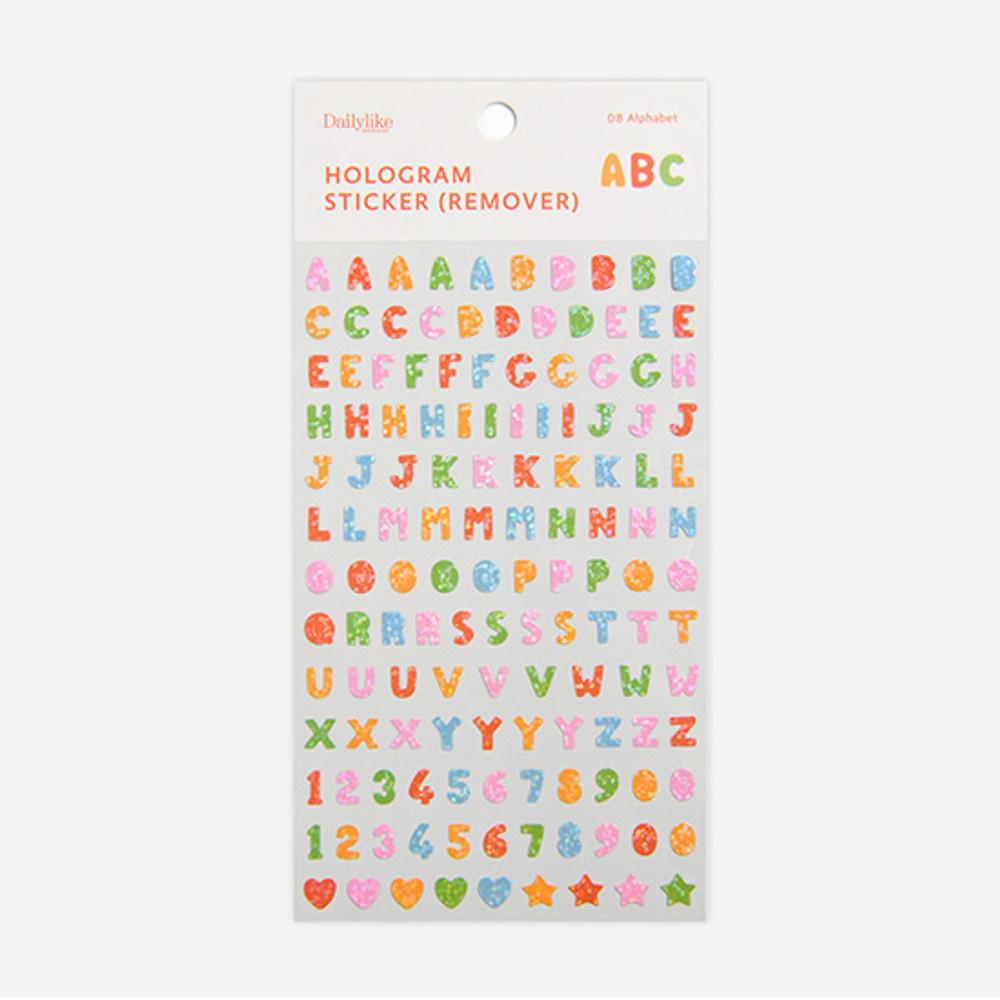 Package - Dailylike Alphabet hologram removable sticker