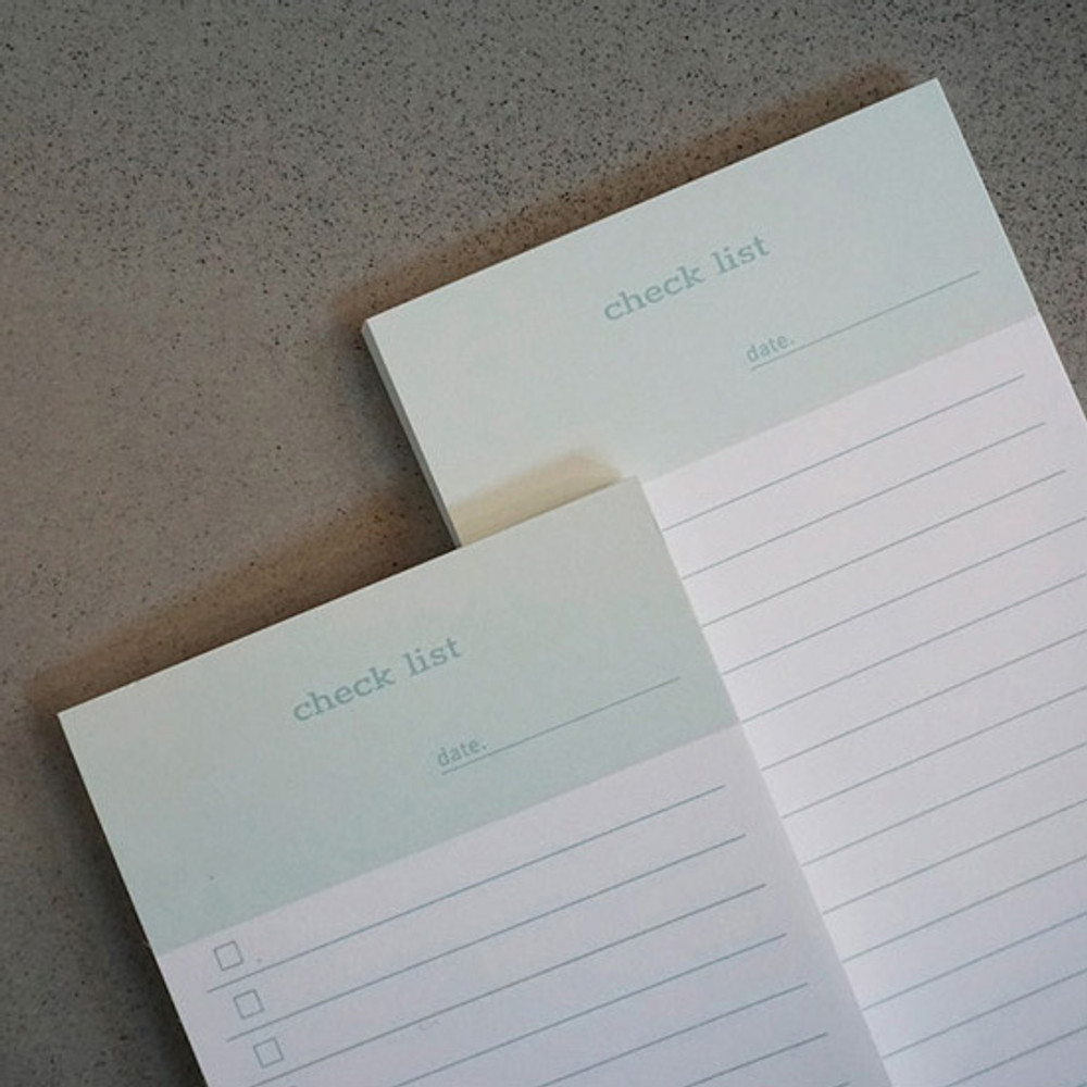 Checklist - N.IVY Today is grid free memo notepad checklist