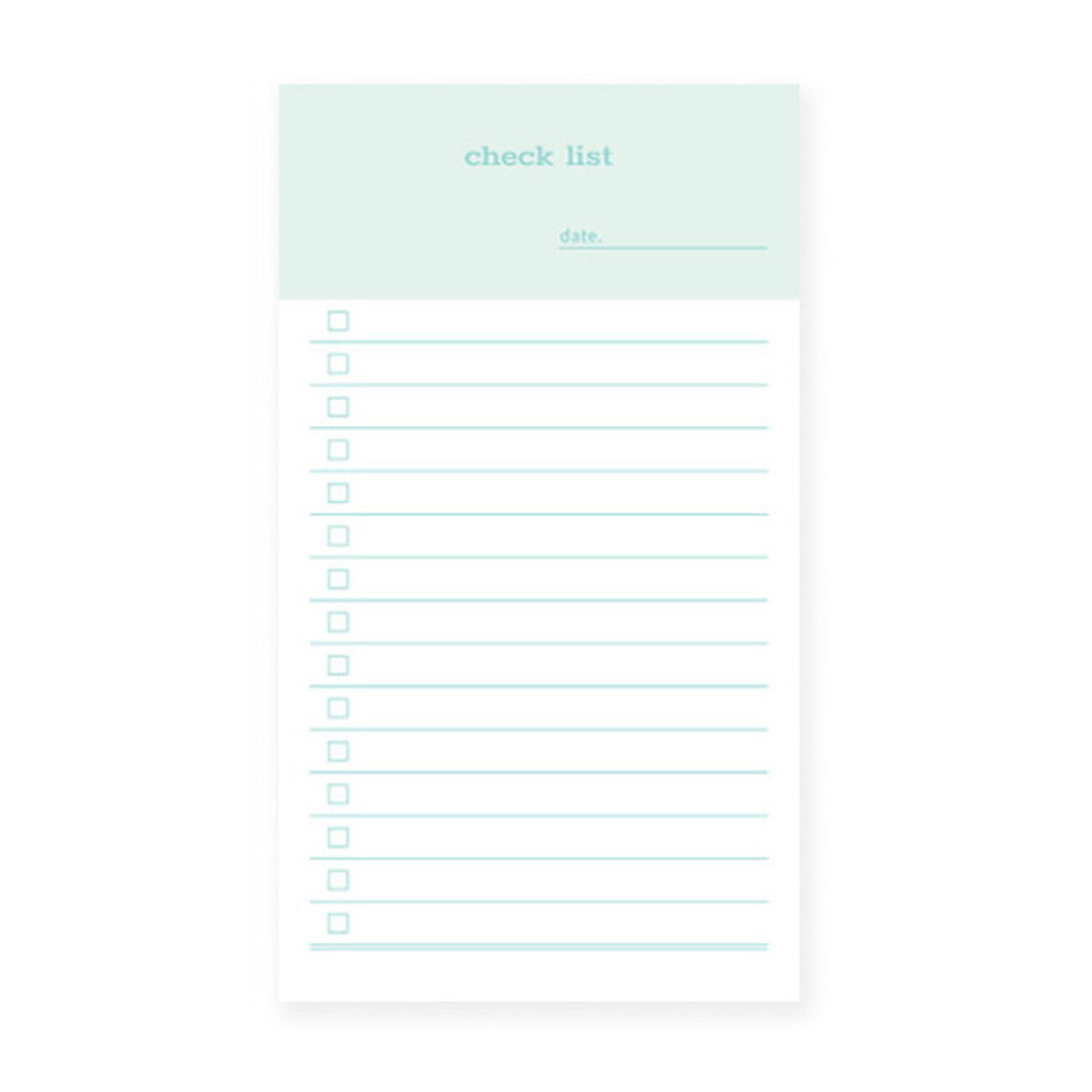 Checklist size - N.IVY Today is grid free memo notepad checklist