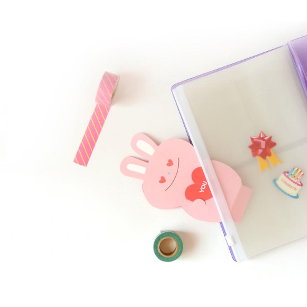 Zip slide - Jam Studio Moa Moa slip in pocket photo name card album
