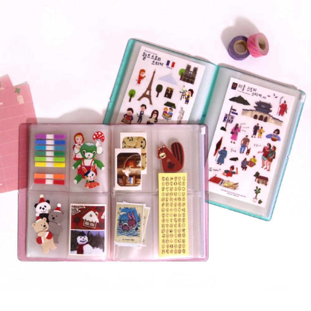 Usage example - Jam Studio Moa Moa slip in pocket photo name card album