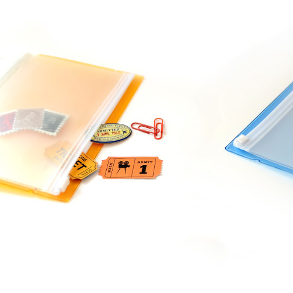 Zip slide pouch - Jam Studio Moa Moa slip in pocket postcard photo album