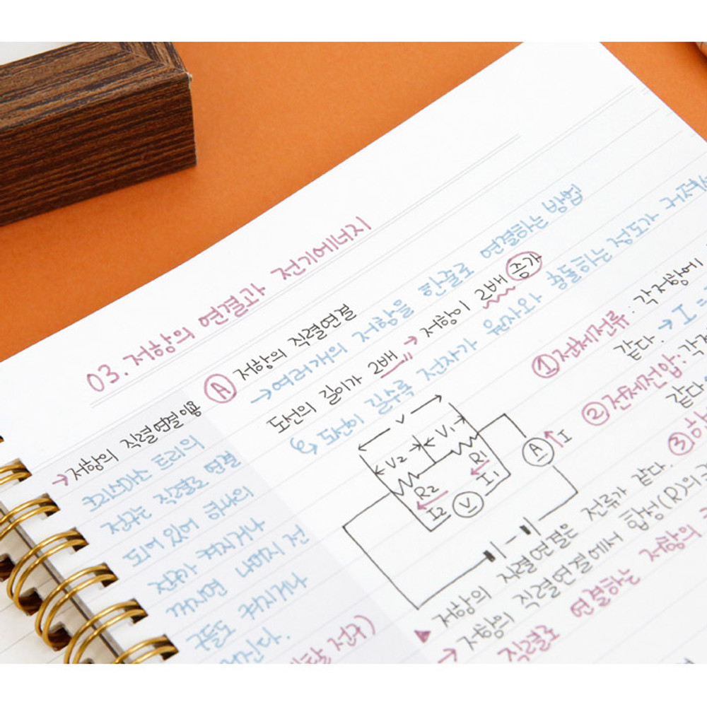 Lined page - Oh-ssumthing O-ssum spiral lined grid blank notebook