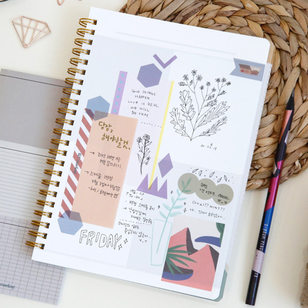 Blank page - Oh-ssumthing O-ssum spiral lined grid blank notebook