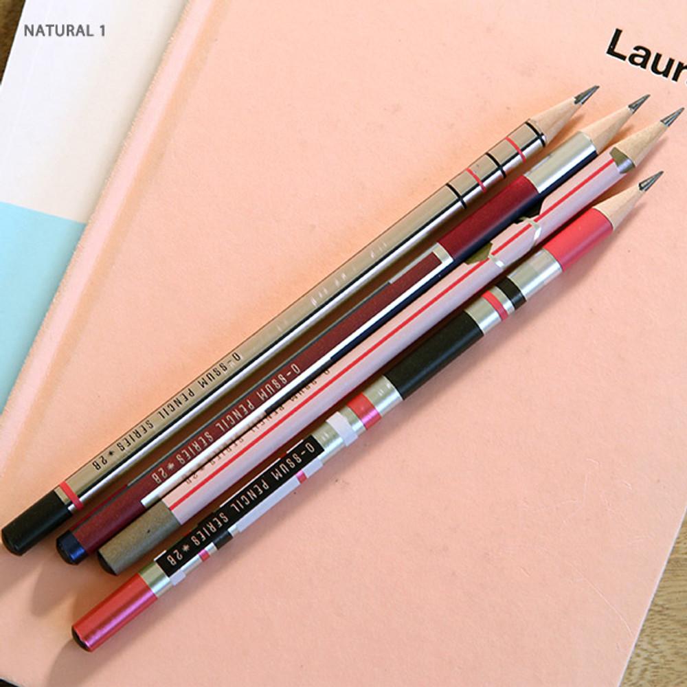 no.1 - Oh-ssumthing O-ssum natural 2B pencil set of 4