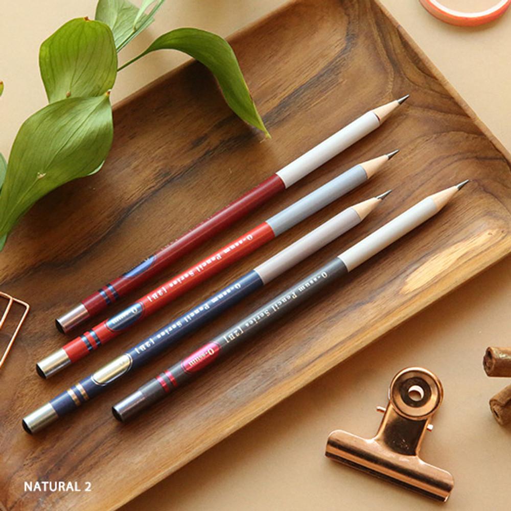 no.2 - Oh-ssumthing O-ssum natural 2B pencil set of 4