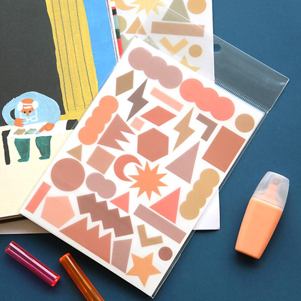Oh-ssumthing O-ssum colorchip deco craft sticker set