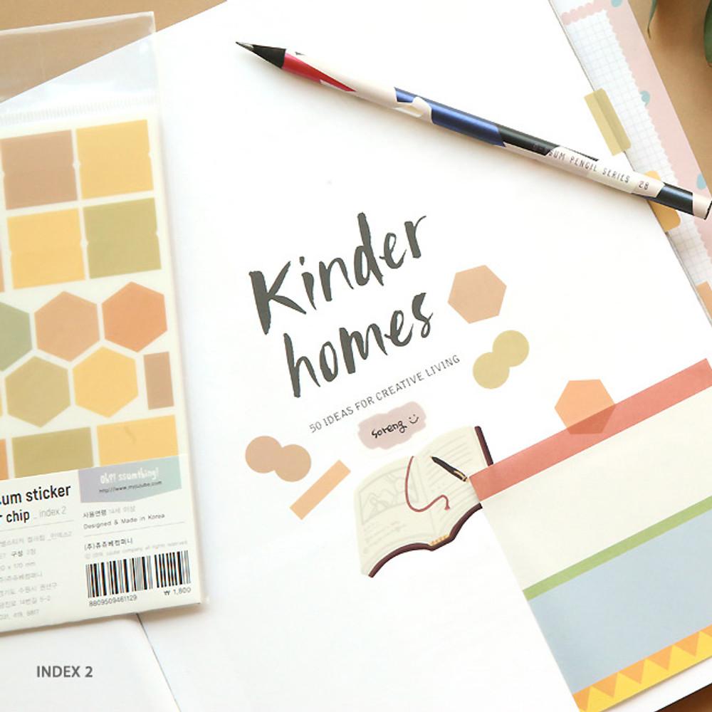 Index 2 - Oh-ssumthing O-ssum colorchip deco craft sticker set