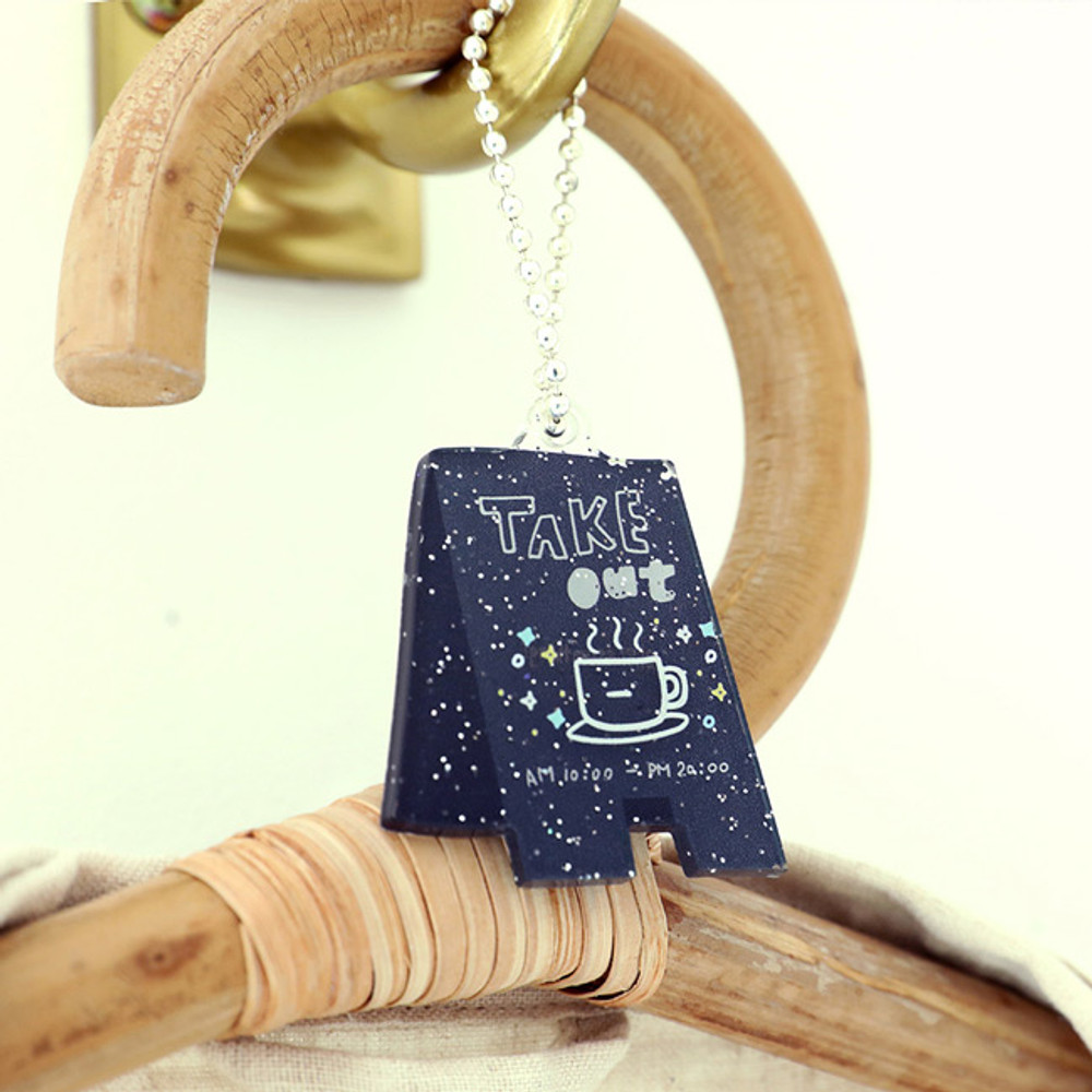 Take out - Oh-ssumthing O-ssum shiny charm with chain strap