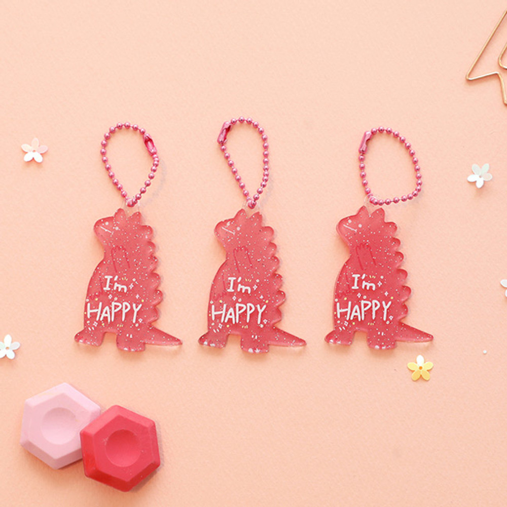 Happy - Oh-ssumthing O-ssum shiny charm with chain strap
