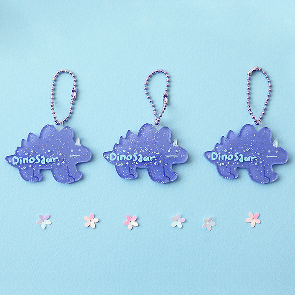 Dinosaur - Oh-ssumthing O-ssum shiny charm with chain strap