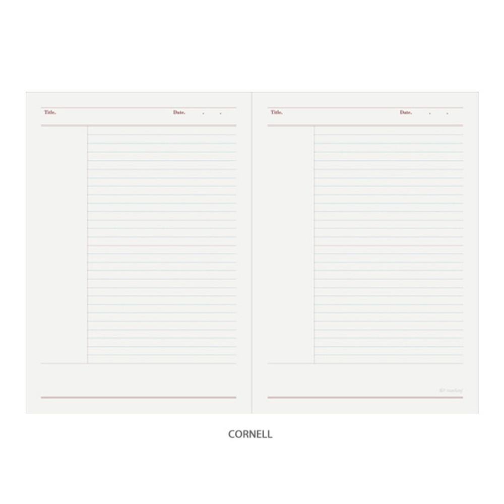 Cornell - Oh-ssumthing O-ssum A5 cornell lined daily grid blank notebook