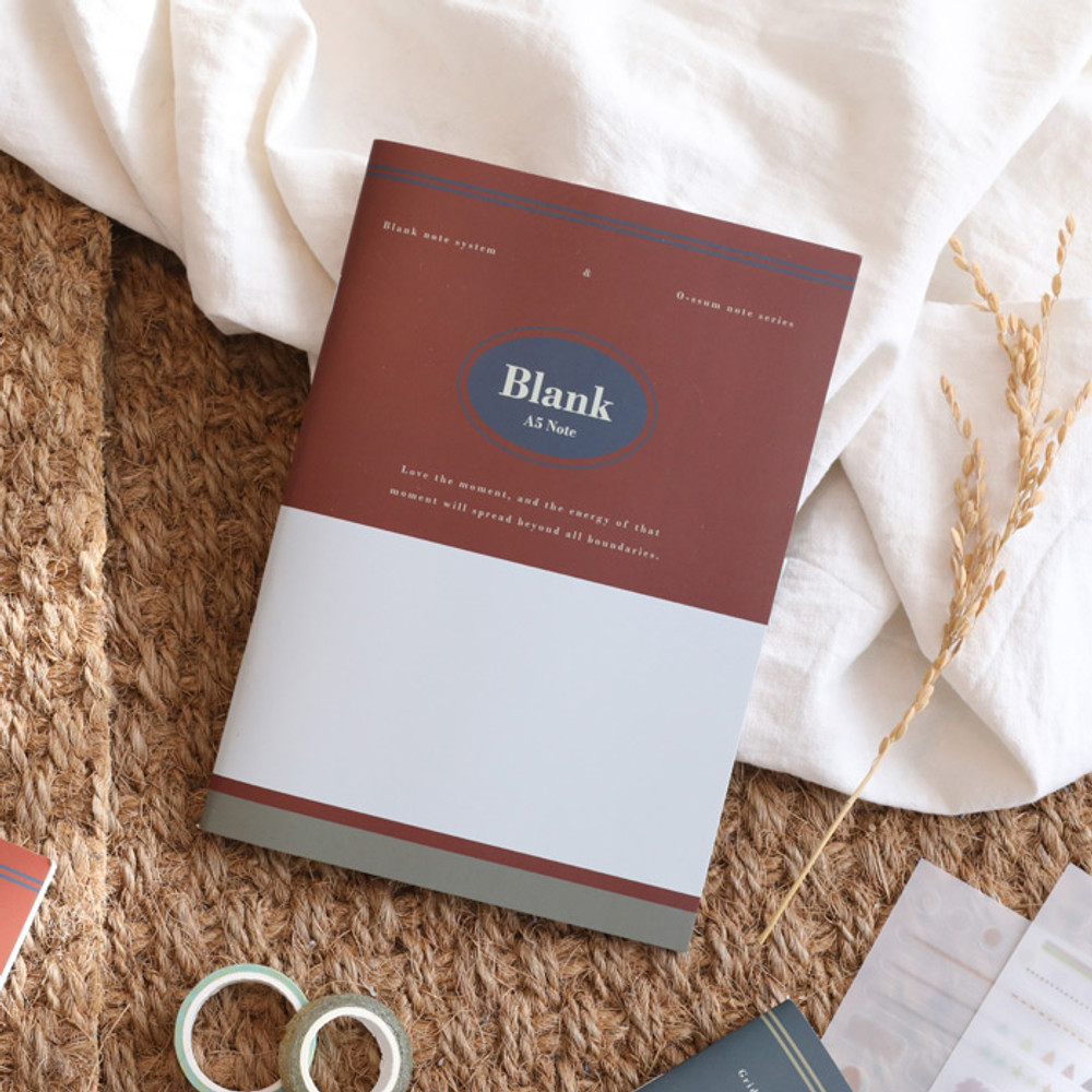 Blank - Oh-ssumthing O-ssum A5 cornell lined daily grid blank notebook