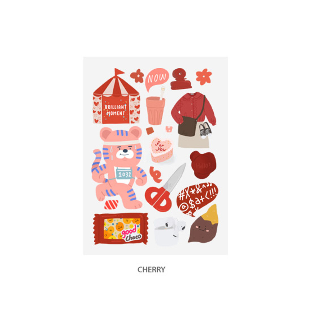 Cherry - Oh-ssumthing O-ssum sticker for decoration ver2