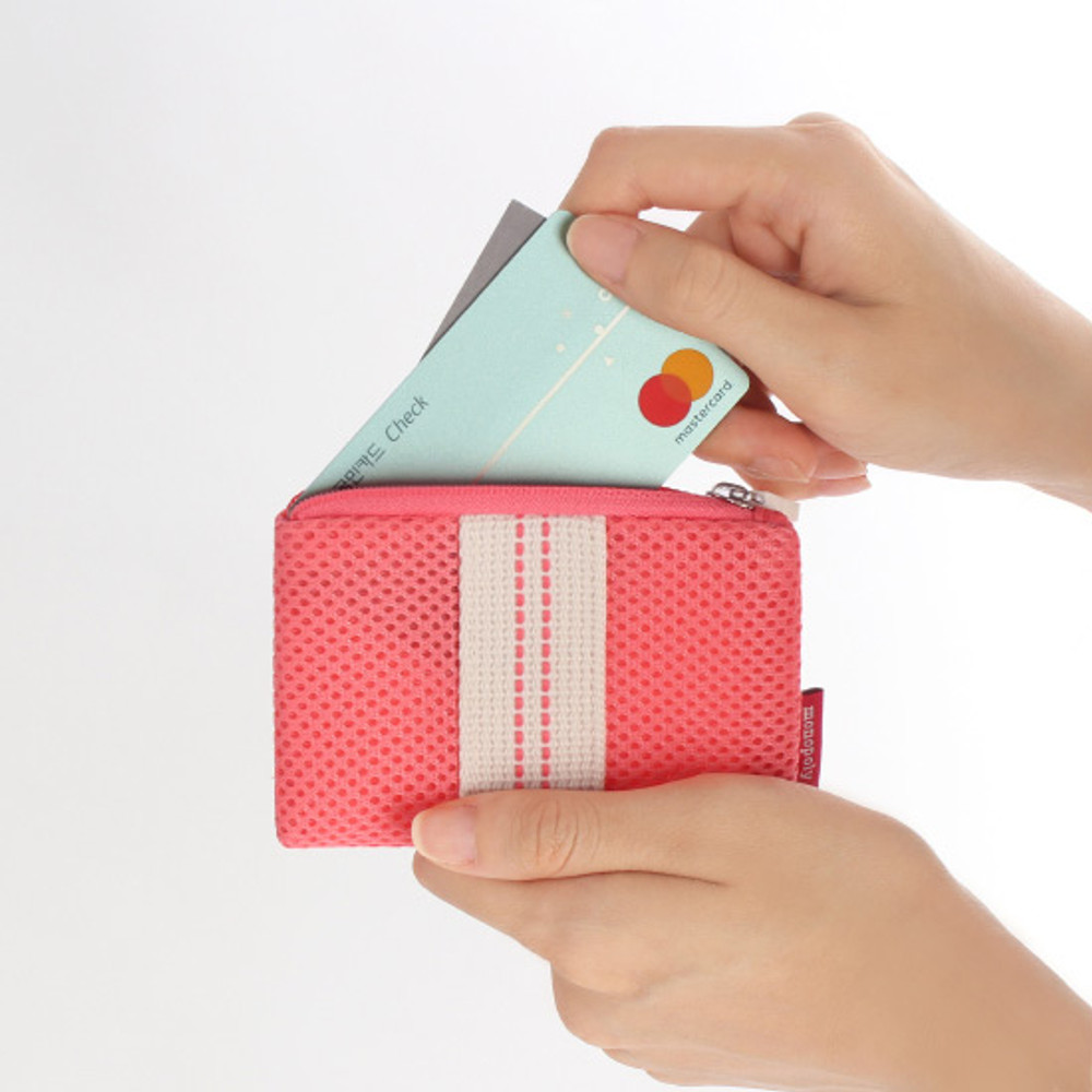 Usage example - Monopoly Air mesh small plain zipper pouch bag