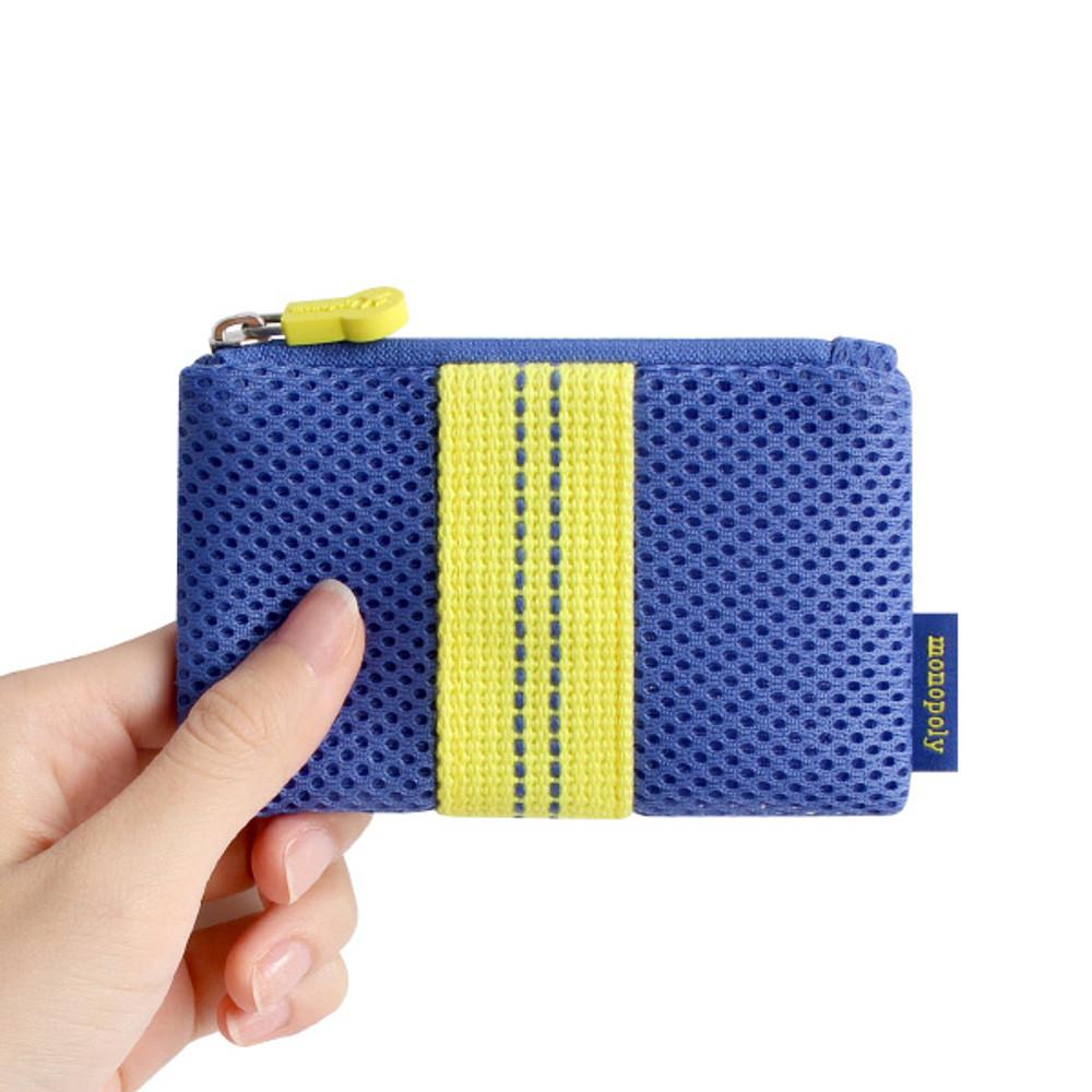 Monopoly Air mesh small plain zipper pouch bag