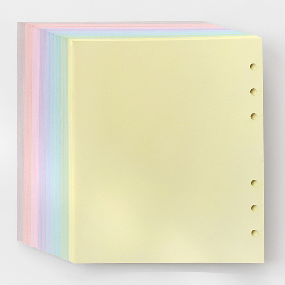 2NUL Color A6 wide 6-ring blank notebook refill set