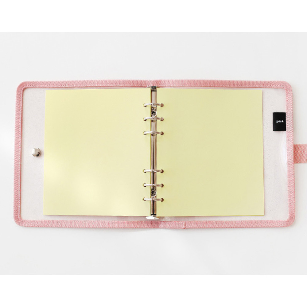 Lemon - 2NUL Color A6 wide 6-ring blank notebook refill set