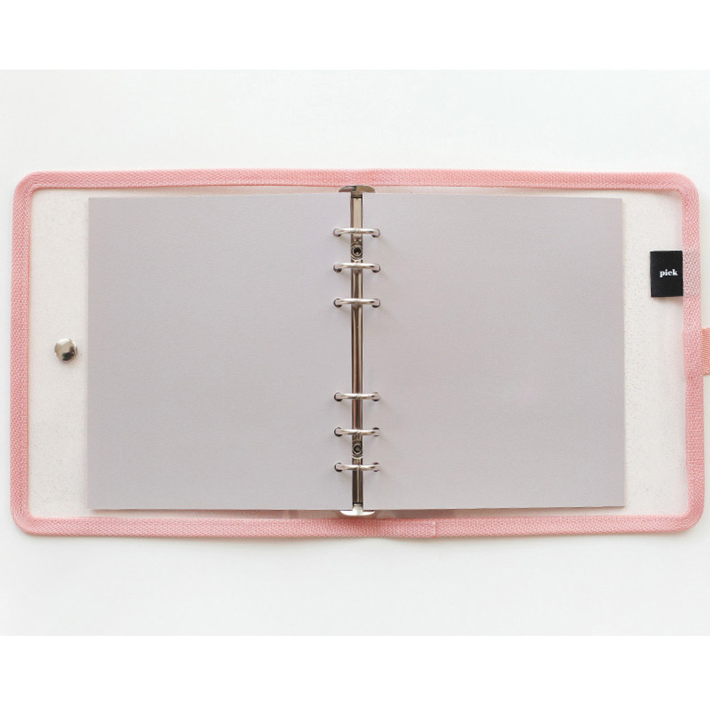 Cappuccino - 2NUL Color A6 wide 6-ring blank notebook refill set