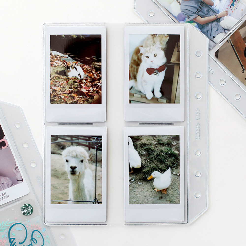 2NUL Photo 8 pockets for A6 wide 6-ring binder