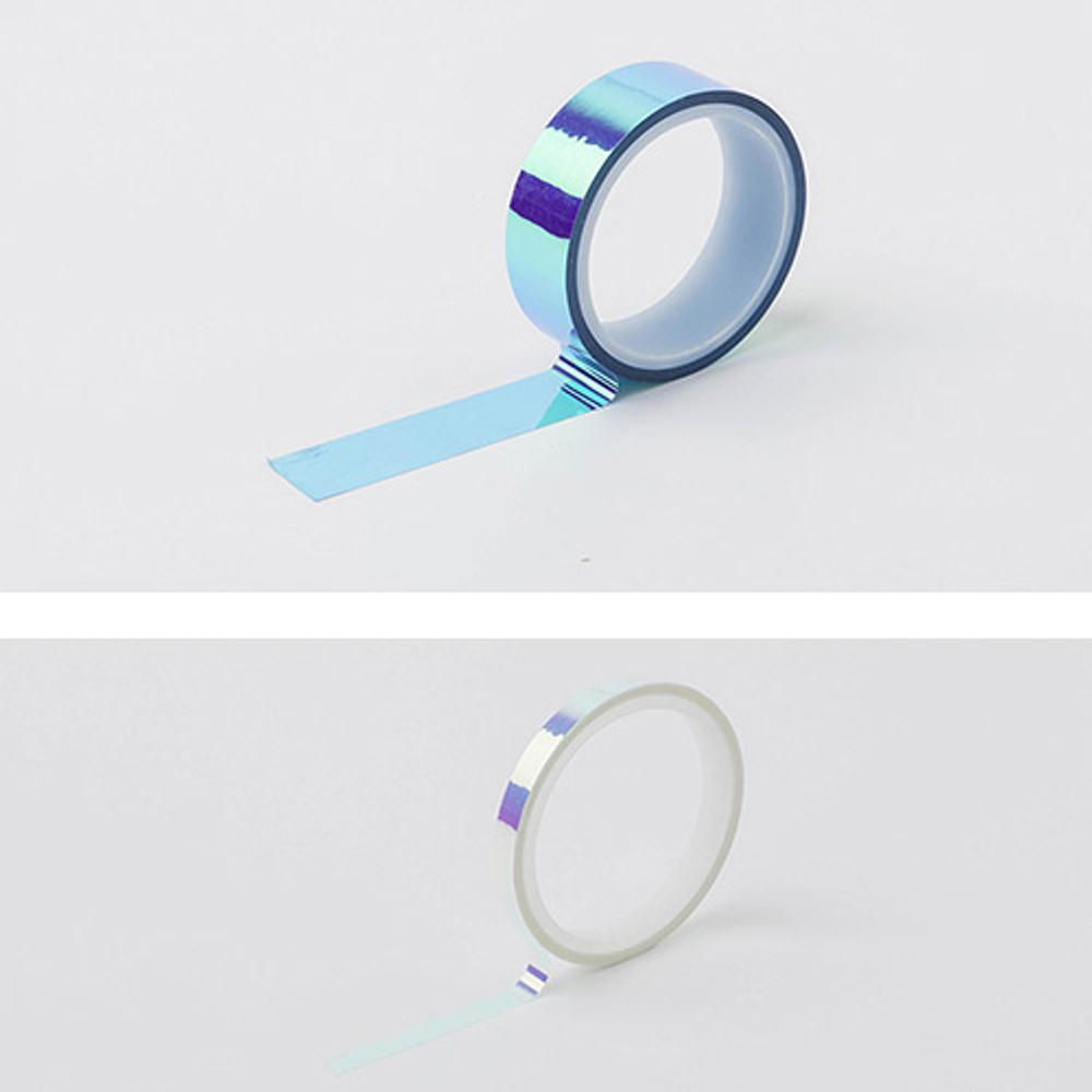 Cobalt sea - O-ssum Shiny aurora masking craft decoration tape set
