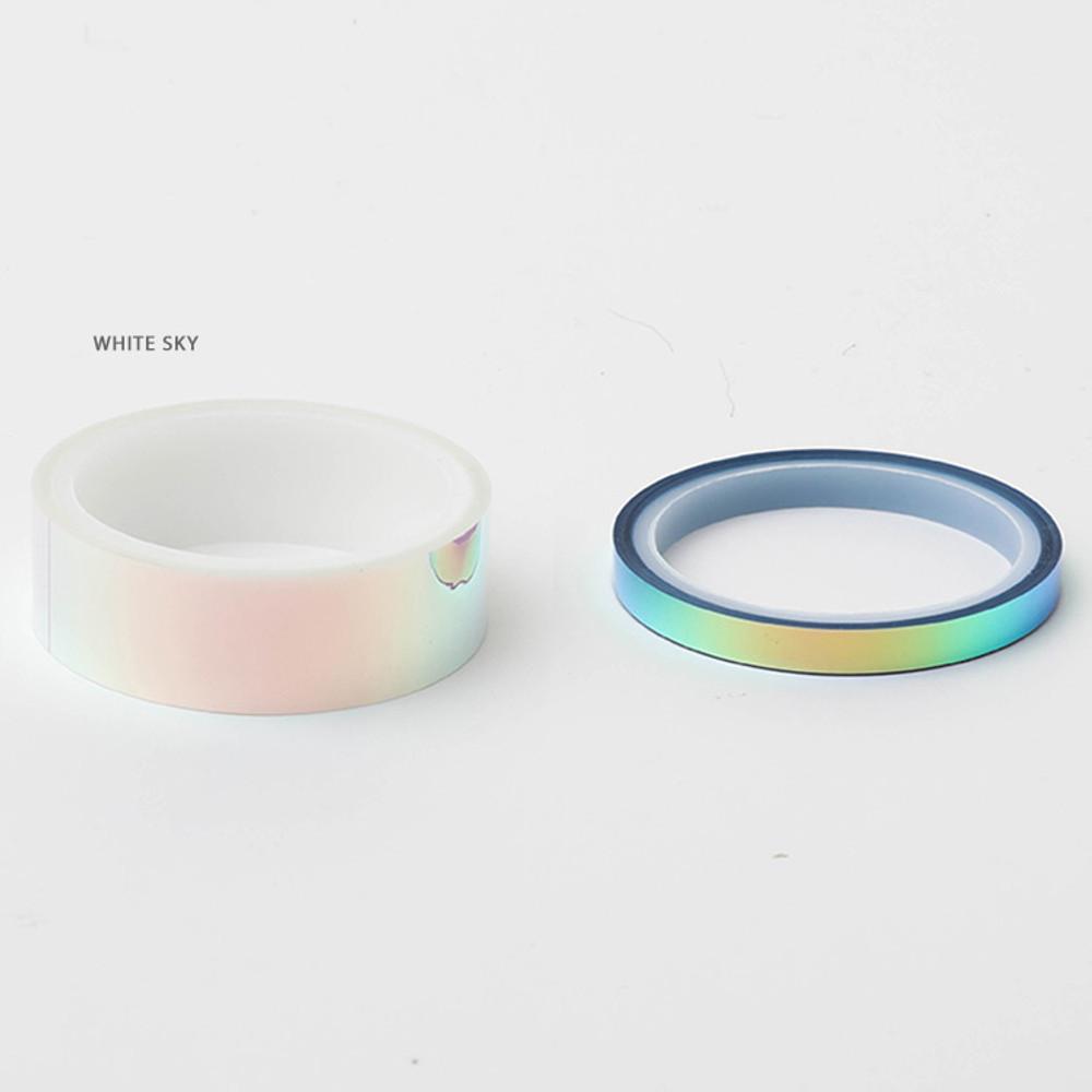 White sky - O-ssum Shiny aurora masking craft decoration tape set