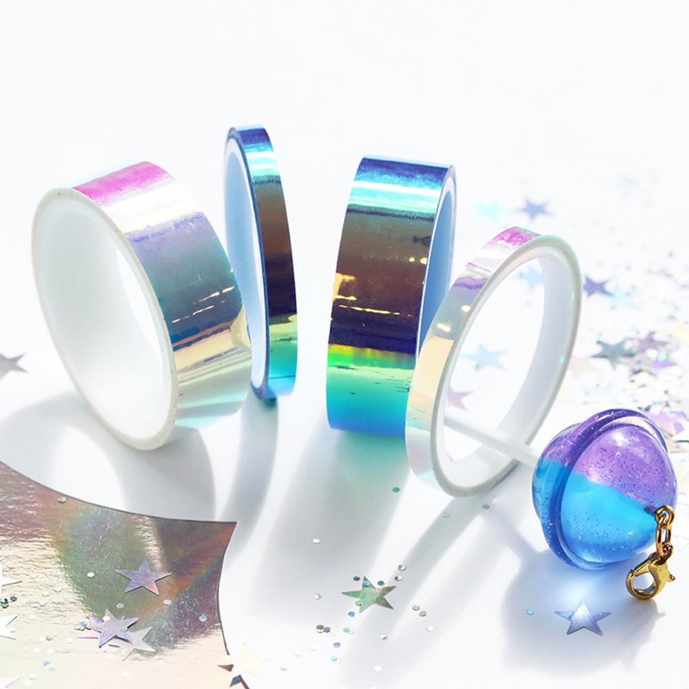 O-ssum Shiny aurora masking craft decoration tape set