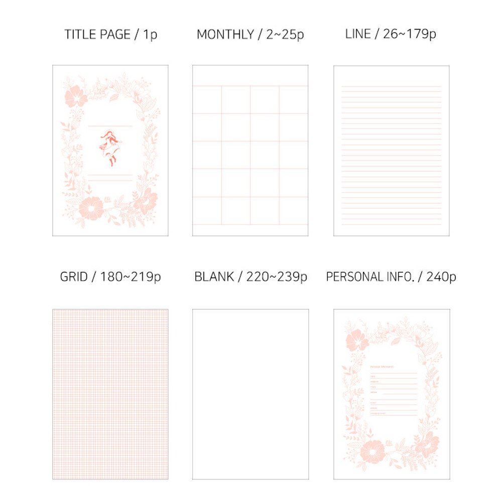 Usage example - Anne medium hardcover undated monthly planner notebook