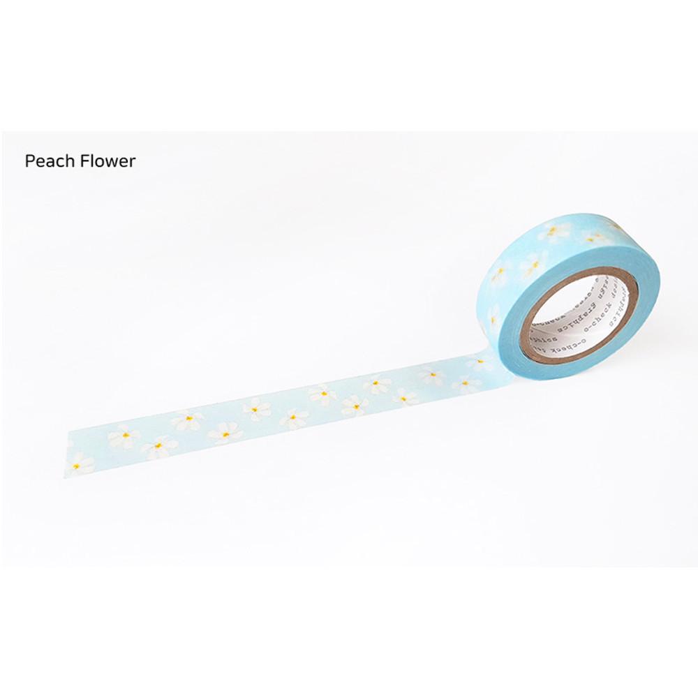 Peach Flower - O-CHECK aDecorative craft 15mm X 10m masking tape