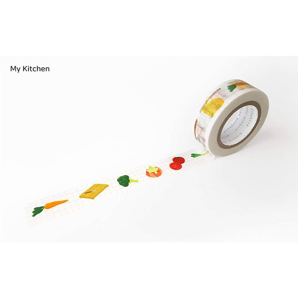 My Kitchen - O-CHECK aDecorative craft 15mm X 10m masking tape