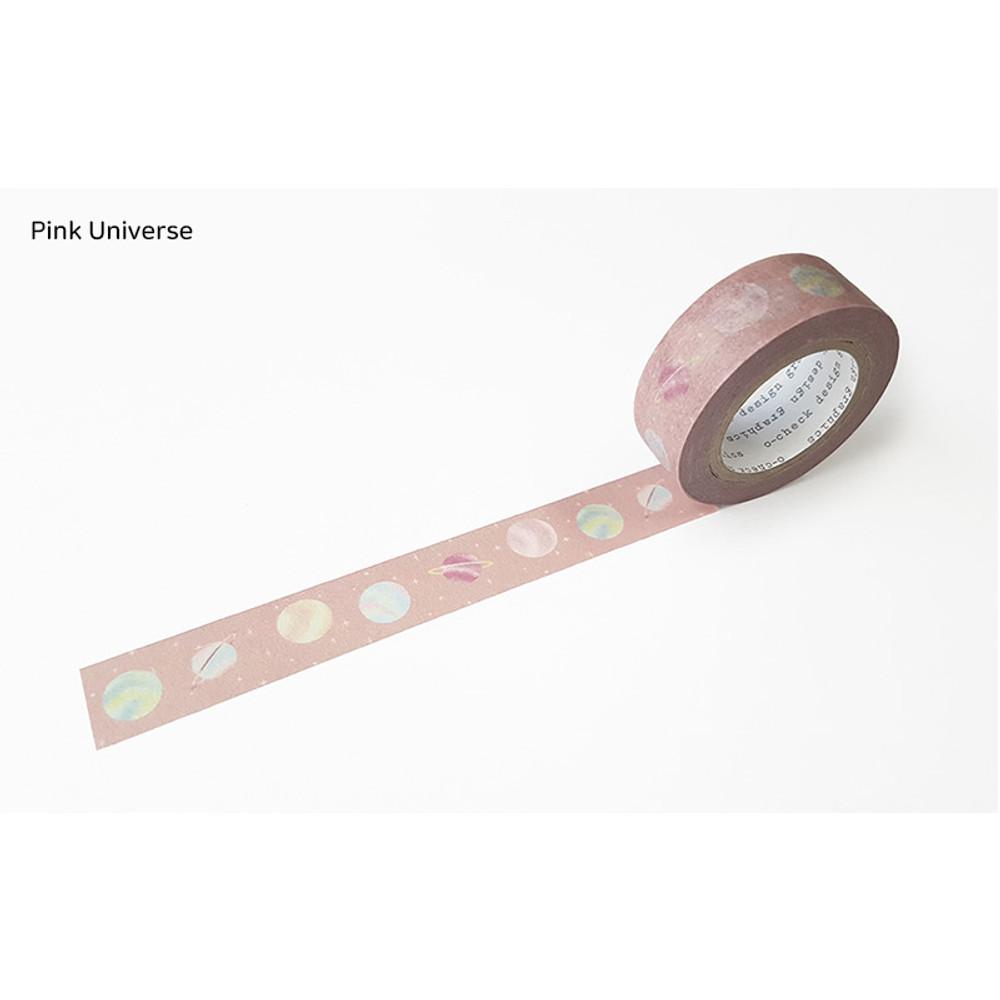 Pink Universe - O-CHECK aDecorative craft 15mm X 10m masking tape