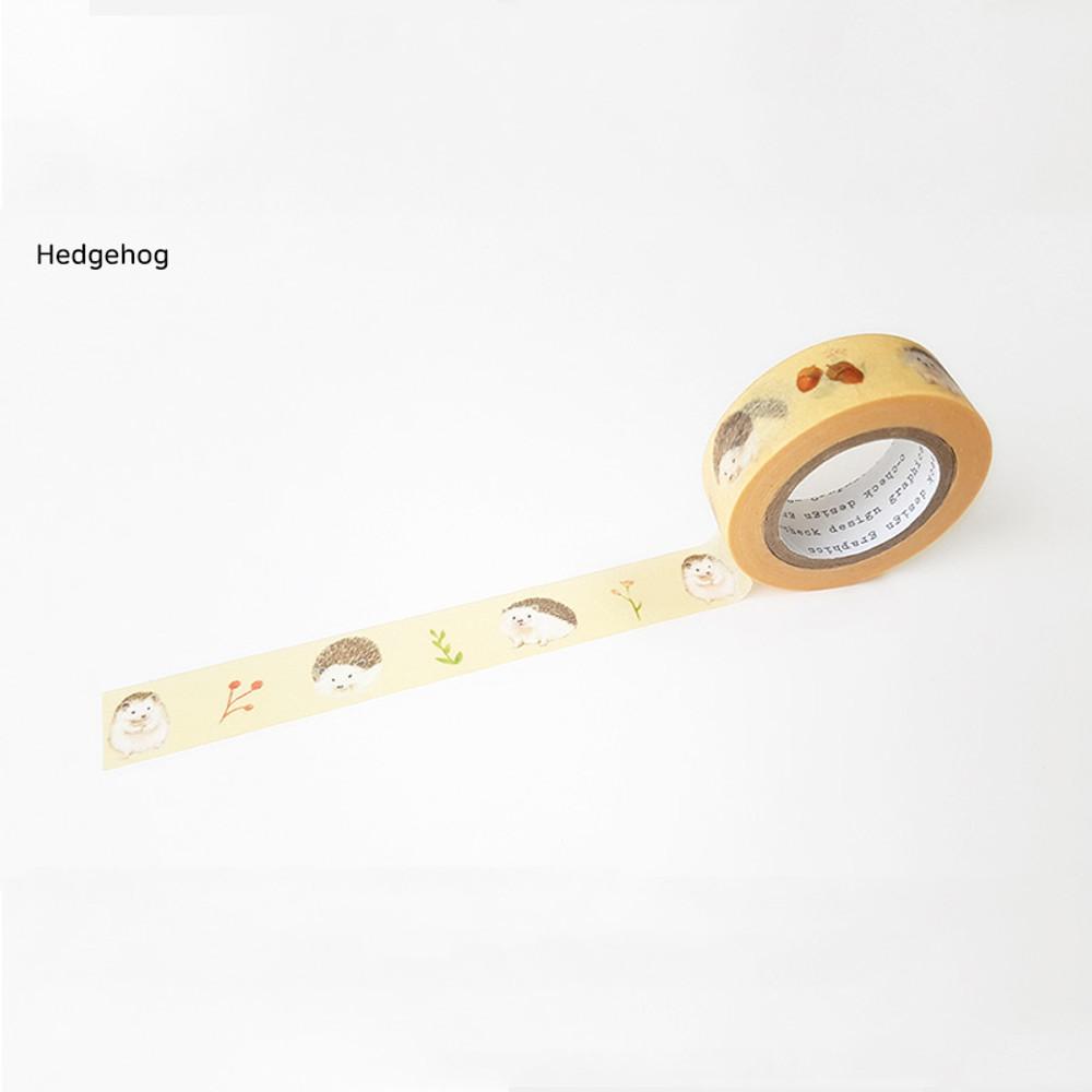 Hedgehog - O-CHECK aDecorative craft 15mm X 10m masking tape
