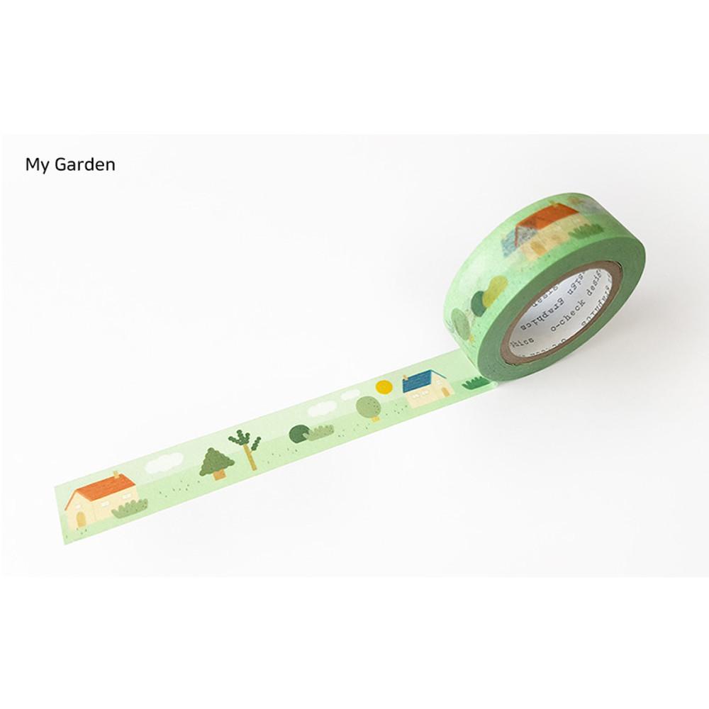 My Garden - O-CHECK aDecorative craft 15mm X 10m masking tape
