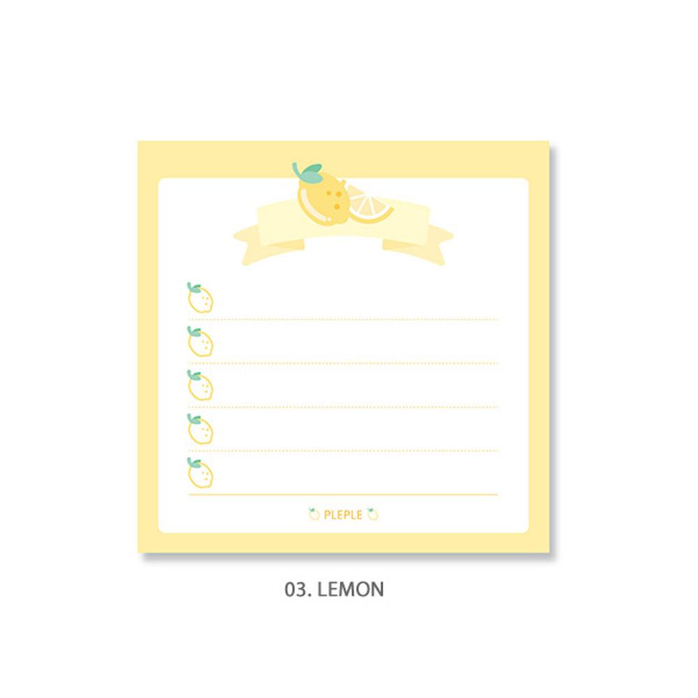 Lemon - PLEPLE Fruits ribbon memo notes checklist notepad
