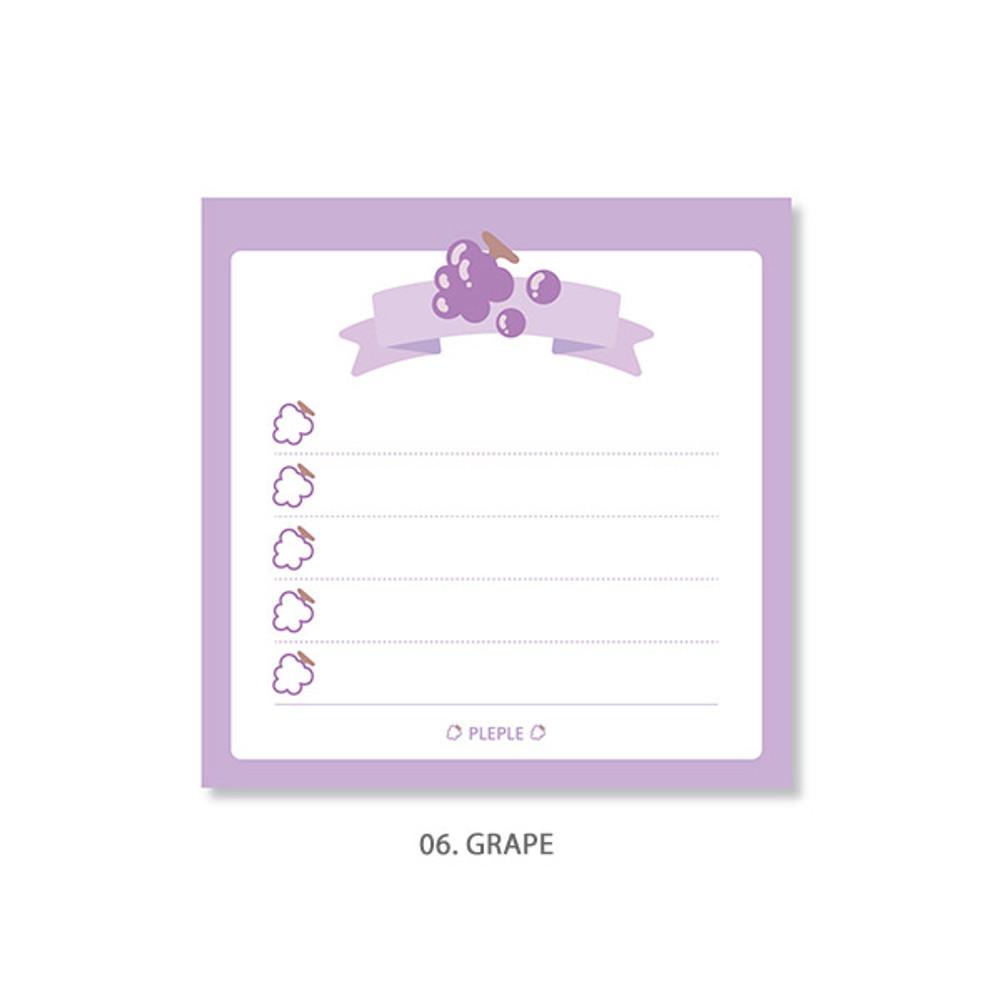 Grape - PLEPLE Fruits ribbon memo notes checklist notepad